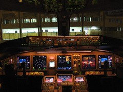 Inside the Boeing 777 Cockpit (BeReal) Tags: india hyderabad boeing777 jetairways indiaaviation2008
