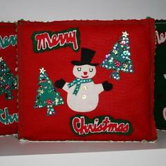 SOLD- Holiday- Christmas Day Album-Vintage Snowman (KitschDesigns) Tags: santa holiday tree vintage snowman album kitsch felt gifts wwwkitschdesignscom