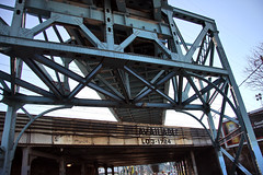 the intersection of heavy rail, subway and automobile (damonabnormal) Tags: street city urban philadelphia canon concrete october steel oct pa infrastructure intersection philly monday septa phl elevatedtrain csx traintrestle frankfordave elevatedsubway 40d