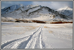 25th of october. First day of winter (joningic) Tags: sun snow mountains nature iceland tracks firstdayofwinter firstwinterday eyjafjararsveit naturethroughthelens