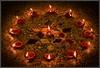 Happy Diwali 5- The Circle of Light (pangalactic gargleblaster and the heart of gold) Tags: light circle mom pattern geometry patient setup lamps diwali muggu kolam mistubishi diya oillamps circleoflight earthenlamps diwali2008 bigthanksonceagaintomomwhowassopatientwiththelightsetup