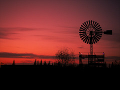 An Industrial Giant Becomes Calm (simon.stoelben) Tags: sunset red sundown duisburg sights landschaftsparknord pwduisburg20081108