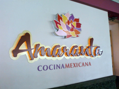Amaranta - Entrance Sign