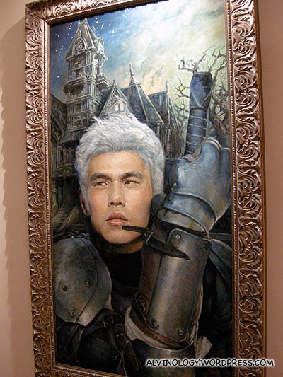 Giant Jay Chou oil painting