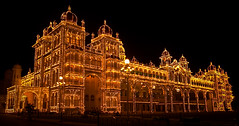 Mysore Palace (saternal) Tags: nightphotography lights palace sensational 1001nights mysore mysorepalace blueribbonwinner saternal worldofarchitecture