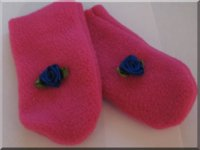 Blue Flower Infant Mittens