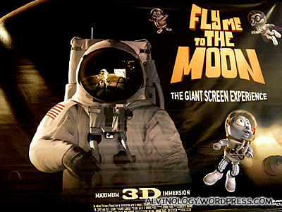 3D movie - Fly me to the Moon