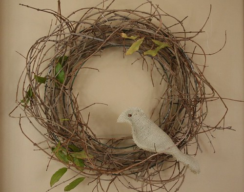bird in a wreath