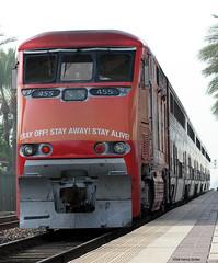 Stayin' Alive! (Patrick Dirden) Tags: railroad train gm diesel rail amtrak locomotive orangecounty fullerton pacificsurfliner passengertrain surfliner emd f59phi operationlifesaver fullertonca amtrakcalifornia amtk455