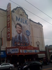 People in line to see Milk at the Castro on Bl...