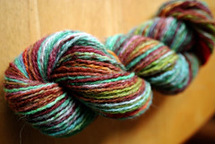 dyed recycled shetland wool