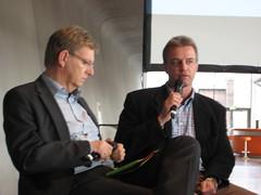 Journalistentag: Michael Konken und Norbert Robers