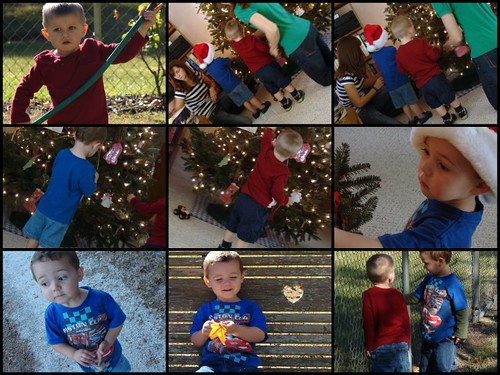 Tree Decorating Day with Mason and Gavin
