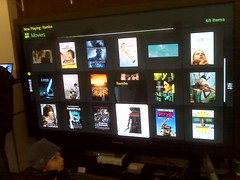 "Boxee running on 103"" plasma at gizmodo g..."