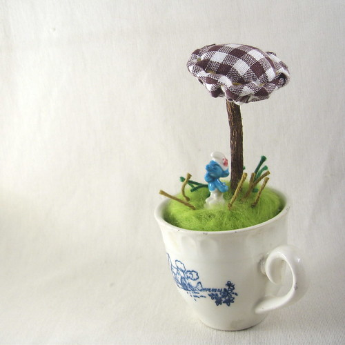 Little Blue: magic terrarium no. 03 by la pomme.