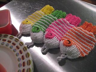 Wishy Washy Fishy Tawashi pattern by Rhonda White