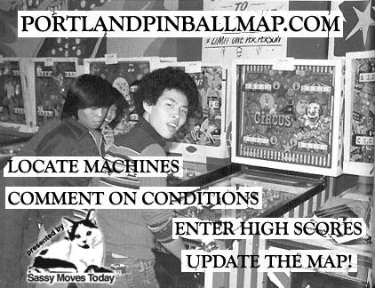 portland pinball map flier
