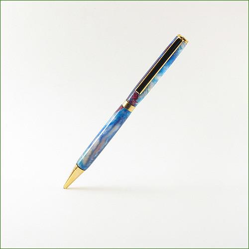 Blue Acrylic Slimline Pen