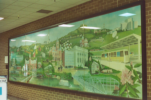 Interior mural, Mountaineer Mall, Morgantown, WV