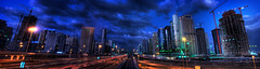 The new Dubai (momentaryawe.com) Tags: skyline dubai cityscape metro uae emirates hdr dubaimarina sheikhzayedroad jumeirahlaketowers