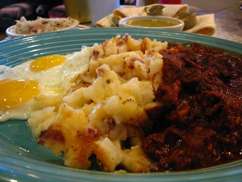 Eggs and potatoes and carne adovada