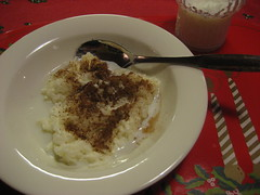 Traditional Christmas Morning Food- puuro with milk