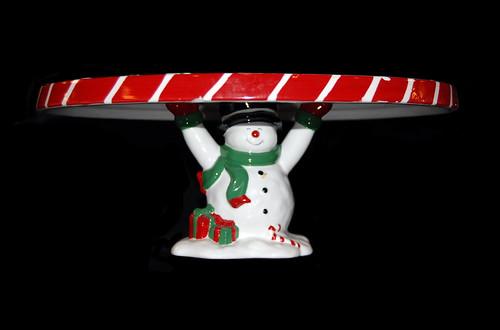 snowman cake plataeu