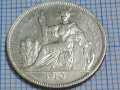 1 Piastre 1910 French Indo China Coin