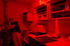 Sleepin' on the Job (Smiddys Photos) Tags: me darkroom work xray 100views eddie redlight radiology grouphealth challengeyouwinner cywinner