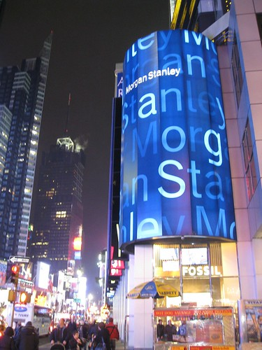 The Morgan Stanley Building in Time Square, NYC (Image from jimyi, Flickr.com)