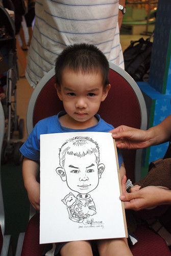 Caricature live sketching for Marina Square Day 2 - 3