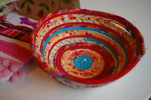 Fabric bowl! So cool!