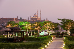 Ramadan - day 3 (ania.egypt) Tags: park travel light holiday restaurant twilight dusk citadel islam sightseeing egypt mosque cairo ramadan iftar wakacje egipt cytadela alazharpark podr kair zmierzch meczet