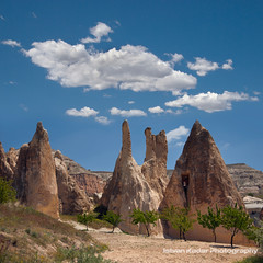 Earth Pyramids (fesign) Tags: trees tree turkey landscape rocks hoodoo province cappadocia anatolia kapadokya fairychimney tentrock nevehir earthpyramid