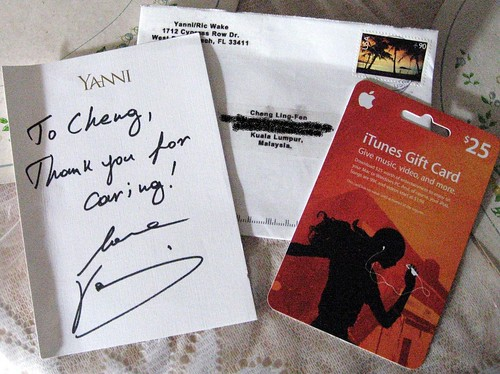 Mail from Yanni