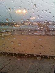 Dusk raindrops