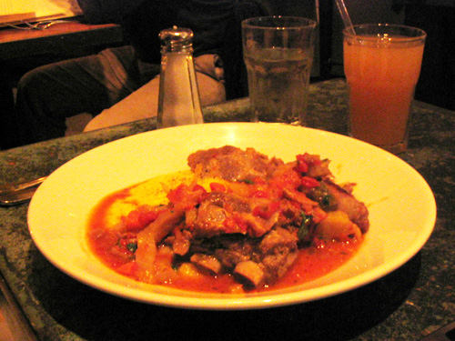 Café Zuni Pork Stew with Butternut Squash and Fennel over Soft Polenta