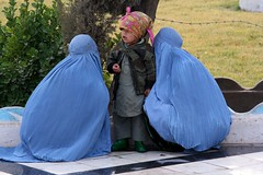 Two burqas and a child (martien van asseldonk) Tags: afghanistan women hijab burqa herat diamondclassphotographer flickrdiamond earthasia martienvanasseldonk