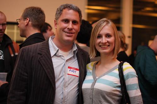 Andy Sternberg and Erica O. at Web 2.0 Yahoo! Brickhouse
