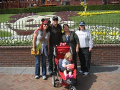 Amy, Tim, Shel, Lynne & Liele at Disneyland. (04/19/2008)