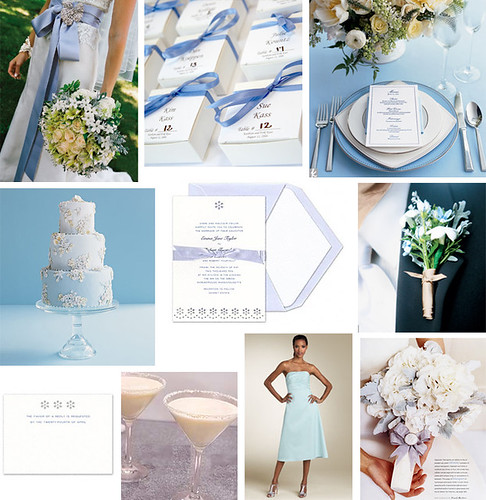 Wedding Wednesday - Light Blue Eyelet wedding por Tastefully Entertaining.