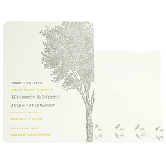 NY Mag - Ash Tree and footprints (sesame letterpress) Tags: trees wedding tree brooklyn ash bridal letterpress stationery invite newyorkmagazine sesameletterpress