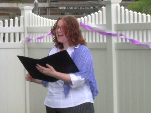 Officiating at Tom & Jeannies Wedding, 2008