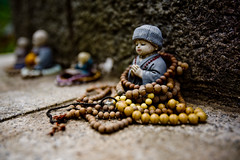 statue and beads (Derekwin) Tags: statue buddha buddhism korea korean gyeonggido yangpyeong