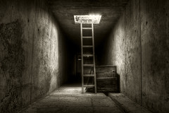 ladder (5y12u3k) Tags: light bw abandoned sepia underground industrial poland tunnel unfinished ladder soe hdr decayed nuclearpowerplant 3xp bwhdr zarnowiec 5y12u3k sylwekeu