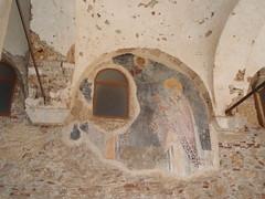Fresco in Byzantine church (steven_and_haley_bach) Tags: fresco byzantine mystras sixthday mistras greecevacation byzantineruins