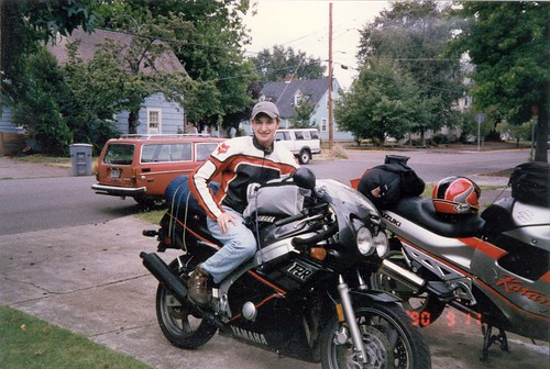 dan and bikes and 145 wagon before roadtrip
