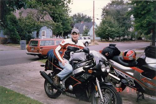 dan and bikes and 145 wagon before roadtrip