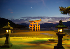 Miyajima Torii and New MoonWorldheritage (h orihashi) Tags: sunset japan night landscape perception gate shrine pentax hiroshima miyajima  torii soe  globalvillage worldheritage amazingcolors itsukushima aphoto aclass  peopleschoice   blueribbonwinner   supershot flickrsbest bej golddragon mywinners abigfave k10d pentaxk10d platinumphoto impressedbeauty superaplus aplusphoto flickrhearts isawyoufirst superaaward worldicon diamondclassphotographer flickrdiamond superhearts lunarvillage citrit excellentphotographerawards pentaxlife heartawards theunforgettablepictures diamondstars flickrsheaven wonderfulphotosfortheworld betterthangood justpentax proudshopper theperfectphotographer goldstaraward spiritofphotography historyantiquities hatsukaichishi monkeyawards photographerparadise