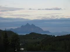 Mountain in the midnight sun (anja63) Tags: norway lofoten midnightsun